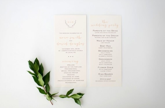 nora wedding programs (sets of 10)  // lola louie paperie