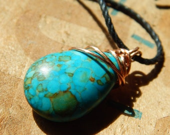 Wire-Wrapped Chrysocolla Necklace