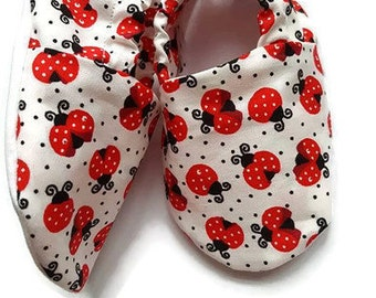 Baby Shoes,Baby Girl Shoes, Baby Booties,Crib Shoes,Pram Shoes,Girls Shoes,Soft Sole,Slip on,Baby Shower Gift,New Baby,infant shoes,ladybird