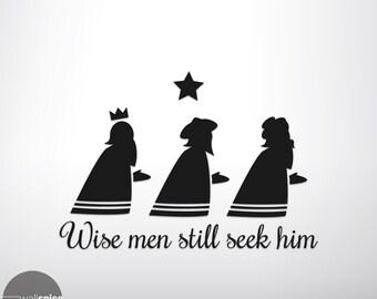Wise Men Still Seek Him Vinyl Wall Decal Sticker
