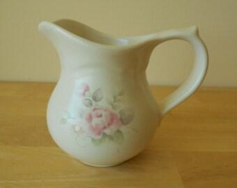 """Pfaltzgraff 'Tea Rose' Creamer, 4-1/2"""" Tall"""