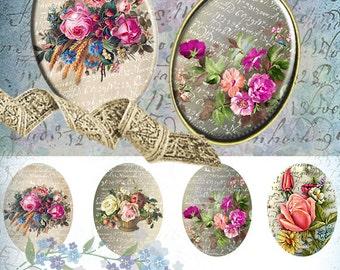 Vintage beauty - 30x40mm Images 4x6 paper Digital Collage Sheet Printable Download for pendants bezel magnets scrapbooking paper craft