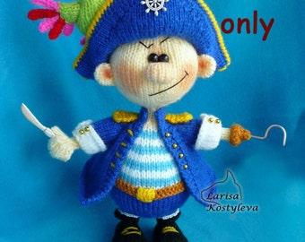 Pirate, amigurumi knitting pattern