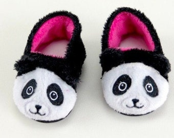American Girl or Bitty Baby Panda Slippers