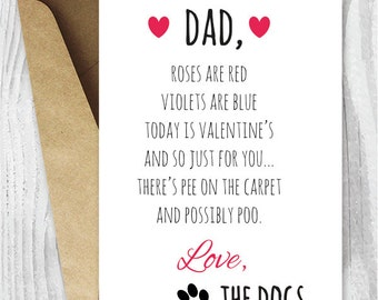 Schön Valentine Card Printable, Funny Printable Valentines Day Card From The  Dogs, Dog Dads Valentine