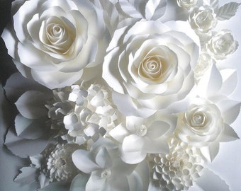 Paper Art Flowers for Docoration