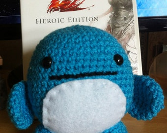 Blue Quaggan from Guild Wars 2 Mmo. Handcrafted, Crochet, Amigurumi Plushie