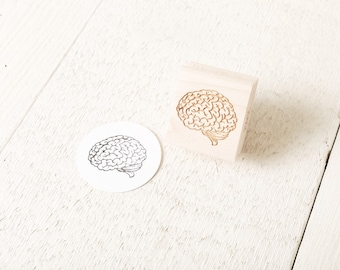 Human Brain Rubber Stamp