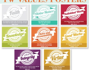LDS Young Women Values Poster and Prints