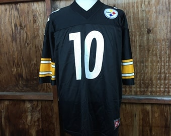 Vintage 90's Nike Pittsburg Steelers Kordell Stewart No. 10 Jersey Sz. Large Made in USA