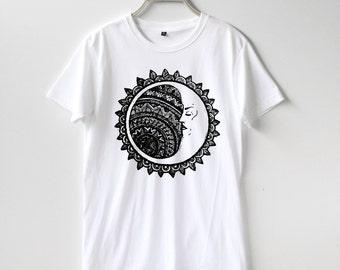 Sun Moon Stars Shirt TShirt T-Shirt T Shirt Tee