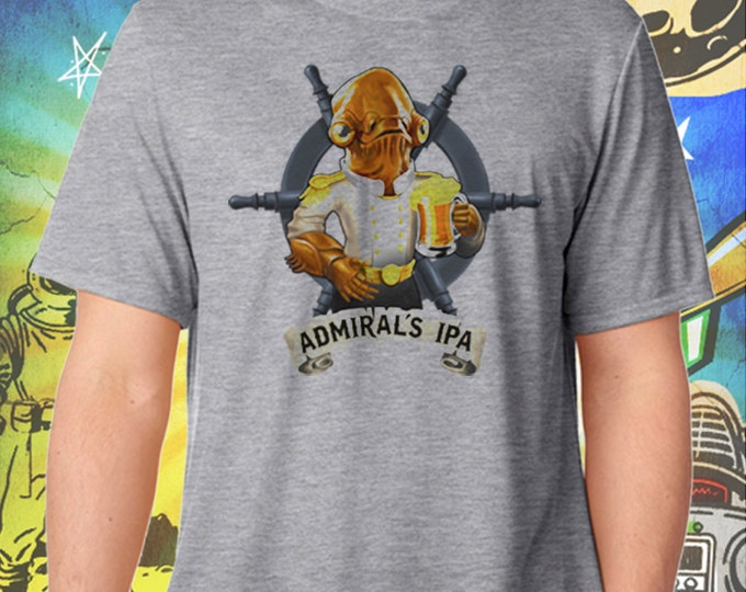 Admiral's IPA Men's Gray Men's Tee Star Wars Beer Tshirt