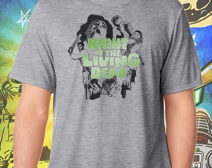 Night of the Living Dead Men's Poster T-Shirt George Romero's Zombie Tshirt