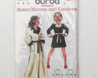 Burda Floor Length or Knee Length Children's Robe Sewing Pattern 01322 - Uncut - Size 6