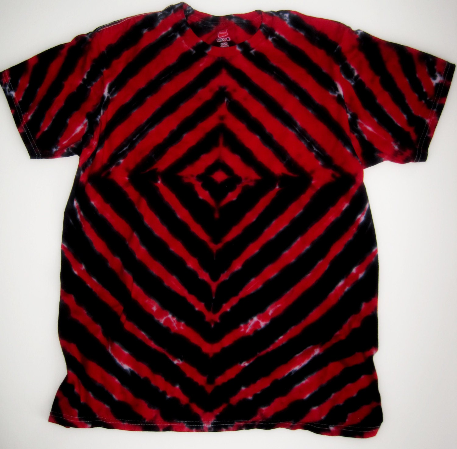Tie dye shirt festival tie dye xl red and black tie by for How to dye a shirt red