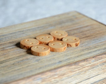 Natural spruce wood tree branch buttons, decorative wooden buttons, tree branch button, 2 holes buttons, natural buttons