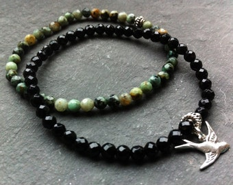 gemstone stacking bracelet, healing bracelets