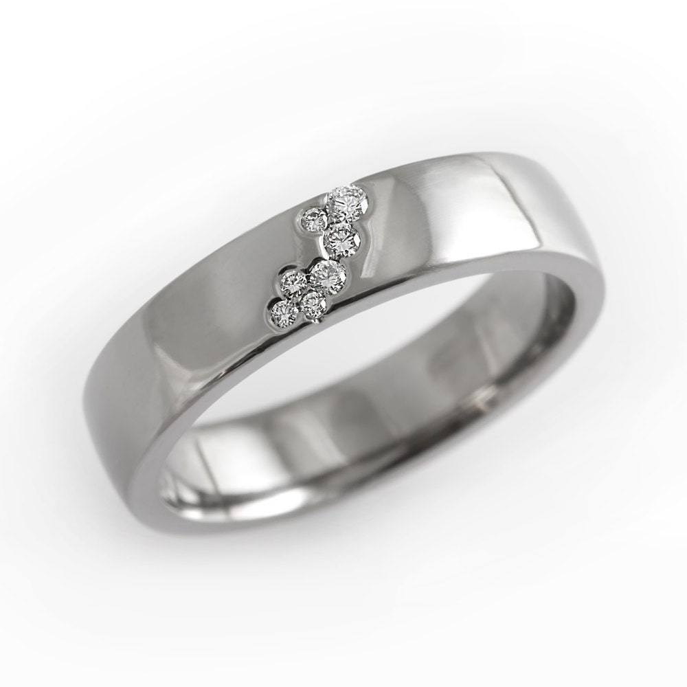 unique engagement ring simple wedding band