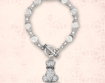 Cat's Back Beaded Toggle Bracelet - 49371