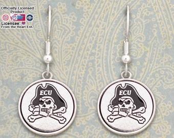 East Carolina Pirates Medallion Earrings