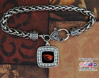 Oregon State Beavers Square Clasp Bracelet