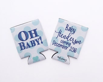 Oh Baby Boy or Girl Shower/Pregnancy Baptism/Birthday Hugger/Can Insulator