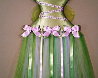 Tinkerbell inspired Fairy Tutu Hairbow Holder
