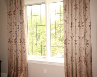 "Custom Drapes ""Escada"", Grommet Panel, Floral design drapes, Drapery Panels, Made-to-Order"