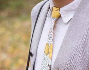 SALE Floral Tie   Handmade tie   Mens wedding tie  Groomsmen gift   Mens Tie