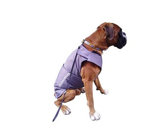 Boxer Winter dog coat with underbelly protection - Dog Jacket - Custom made Dog Raincoat, Waterproof / Fleece -  MADE TO ORDER
