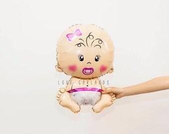 Baby Girl Balloon, Baby Girl Shower Balloon, Baby Balloon, Pink Baby Shower Balloons, Baby Girl Shower Decor, Gender Reveal Balloons