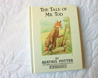 The Tale of Mr. Tod Beatrix Potter Book, vintage Beatrix Potter F. Warne