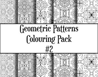 Geometric coloring  Etsy