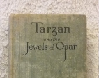Tarzan and the Jewels of Opar, Edgar Rice Burroughs, Vintage Tarzan Novel, Tarzan Copyright 1918, Hollow Books, Vintage Classics,