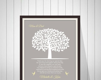 Wedding Thank You Gift for Parents from Bride and Groom Mother & Father In Law Gift Wedding Gift from Couple - 46877