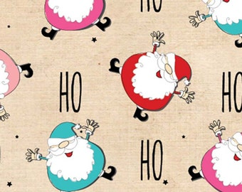 Jolly Ho Ho Santa Christmas Tissue Paper / Gift Wrap # 817 ...10 large sheets
