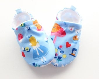 Alice Blue soft sole baby shoes, baby booties, great christmas idea