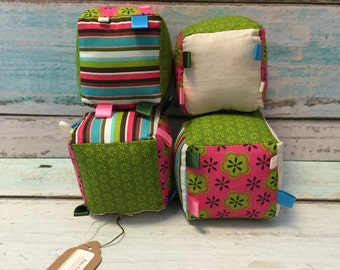 Bright Stripe Plush Blocks