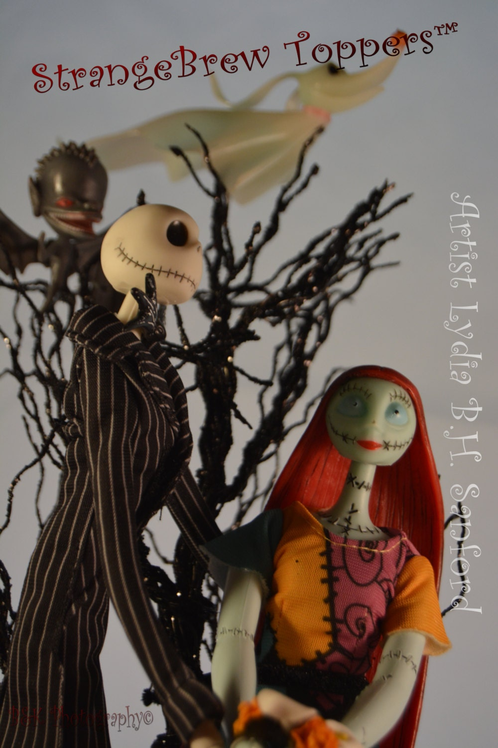 NIGHTMARE BEFORE CHRISTMAS Jack & Sally with Zero/ Wedding