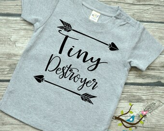 Tiny Destroyer Tribal Arrow  - Baby Boys or Baby Girls Graphic Tee shirt 6-24 mos Many colors~