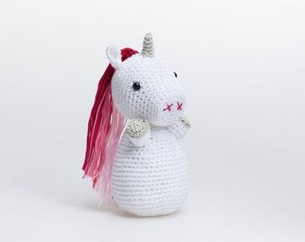 Pink Unicorn Plush, Unicorn Stuffed Animal, Unicorn Stuffed Toy, Crochet Unicorn, Unicorn Amigurumi, Unicorn Soft Toy