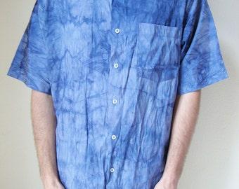 TIE DYE SHIRT -short sleeved, cyberwave, seapunk, grunge, hippie, vaporwave, hiphop, 90s, festivals, summer, blue, purple, lavender, tshirt-
