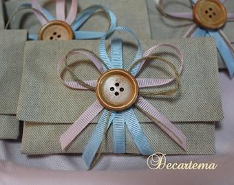 Wedding favors/shabby chic bags