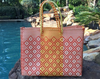Oaxaca Large tote, Mexico handbag, Summer tote