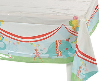 Birthday Circus Tablecloth