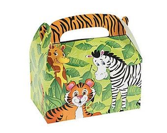 12/ At The zoo  Party Favor boxes / Zoo party/ Treat boxes