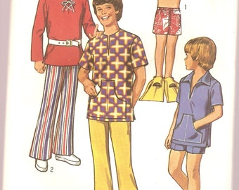 VINTAGE Simplicity Sewing Pattern 9337 - Children's Clothes - Boy's Pants, Shorts & Shirt, Size 3