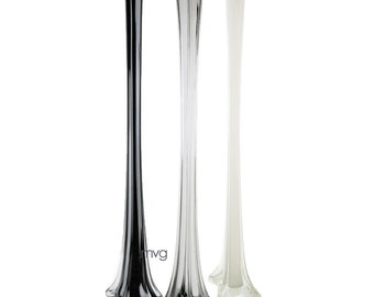 CYS® Glass 28 Inches Eiffel Tower Vases in Various Colors, Pack of 8 pcs (GTW006-COLOR)