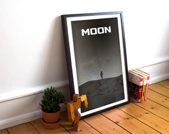 Moon Minimalist Movie Poster - Sam Rockwell - Alternative Movie Posters - Art Print - Wall Art - Sci-Fi Collection (Available In Many Sizes)