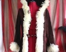 Vintage suede Penny Lane afghan coat
